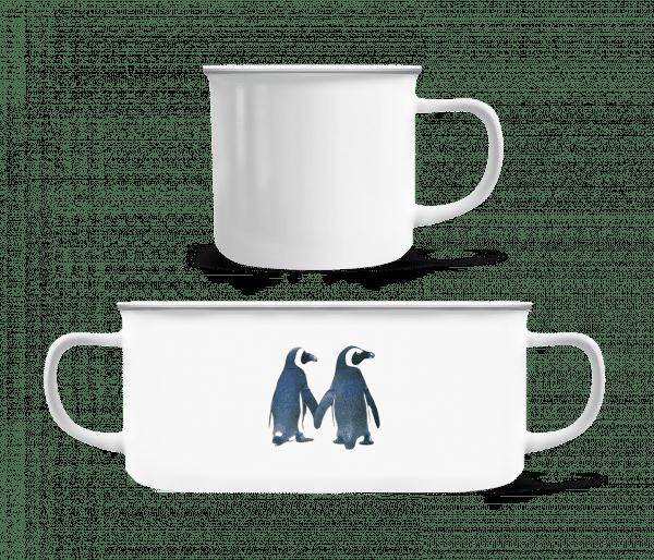 Penguin Couple - Enamel-cup - White - Vorn