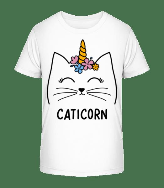Caticorn - Kid's Premium Bio T-Shirt - White - Vorn