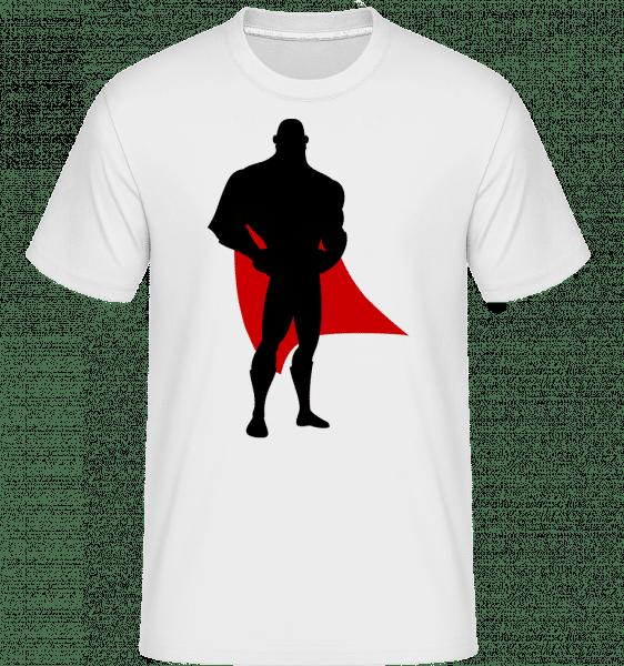 Superhero tatínek -  Shirtinator tričko pro pány - Bílá - Napřed