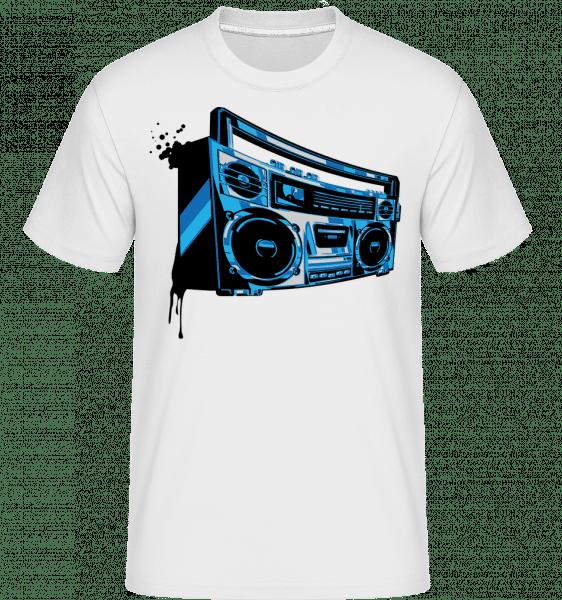 Boombox -  T-Shirt Shirtinator homme - Blanc - Devant