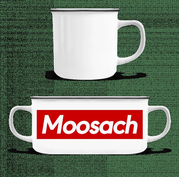 Moosach - Emaille-Tasse - Weiß - Vorn