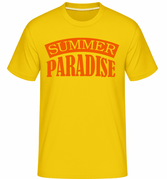 Summer Paradise Orange -  Shirtinator Men's T-Shirt - Golden yellow - Vorn