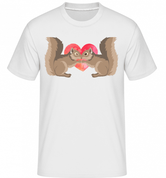 Squirrel Love -  Shirtinator Men's T-Shirt - White - Vorn