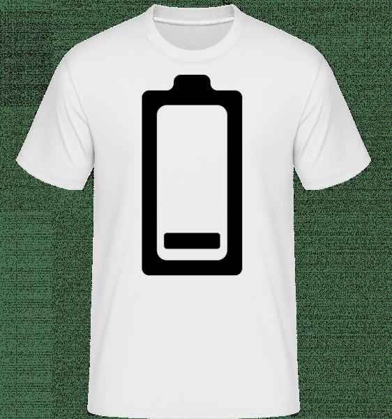 Vybitá batéria Icon -  Shirtinator tričko pre pánov - Biela - Predné