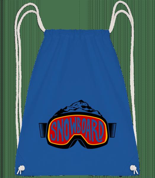 Snowboarding Logo - Drawstring Backpack - Royal blue - Vorn