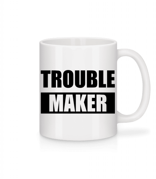 Troublemaker - Mug en céramique blanc - Blanc - Devant