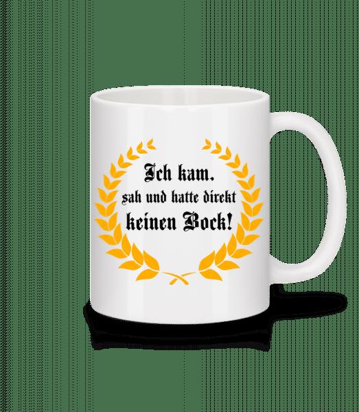 Direkt Keinen Bock - Tasse - Weiß - Vorn