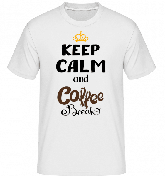 Keep Calm And Coffee Break -  Shirtinator Men's T-Shirt - White - Vorn