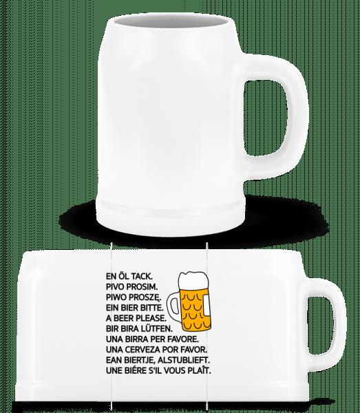 Beer Please - Beer Mug - White - Vorn