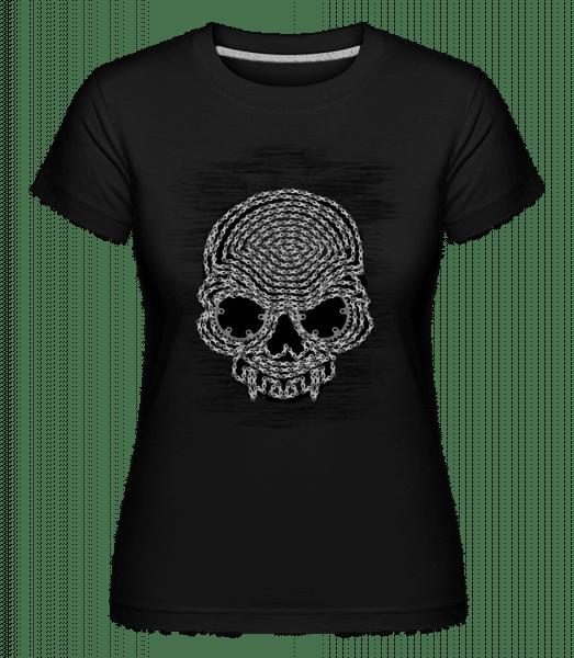 Bicycle Chains Skull -  Shirtinator Women's T-Shirt - Black - Vorn