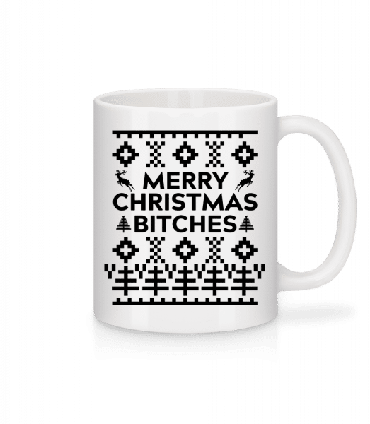 Merry Christmas Bitches - Mug - White - Vorn