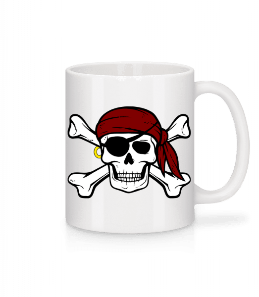 Pirate Skull - Mug - White - Front