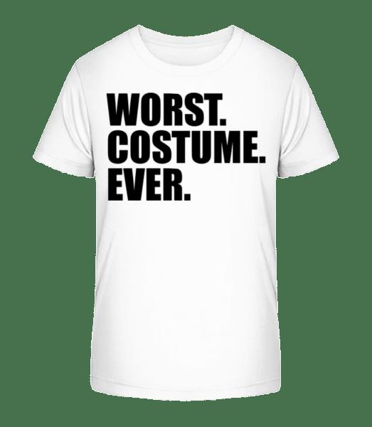 Nejhorší. Kostým. Vůbec. - Detské Premium Bio tričko - Bílá - Napřed