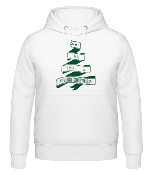 We Wish You A Merry Christmas - Sweat à capuche - Blanc - Vorn
