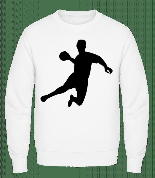 Handball - Classic Set-In Sweatshirt - White - Vorn