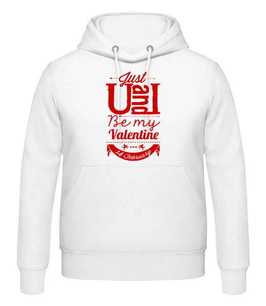 Be My Valentine Red - Men's Hoodie - White - Vorn