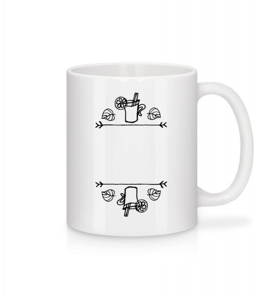 Mulled Tine Template - Mug - White - Vorn