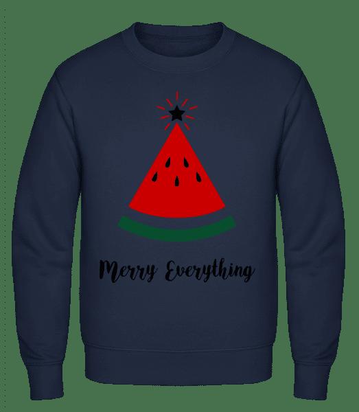 Merry Everything Christmas - Men's Sweatshirt - Navy - Vorn