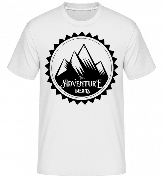 Climbing The Adventure Begins -  Shirtinator Men's T-Shirt - White - Front