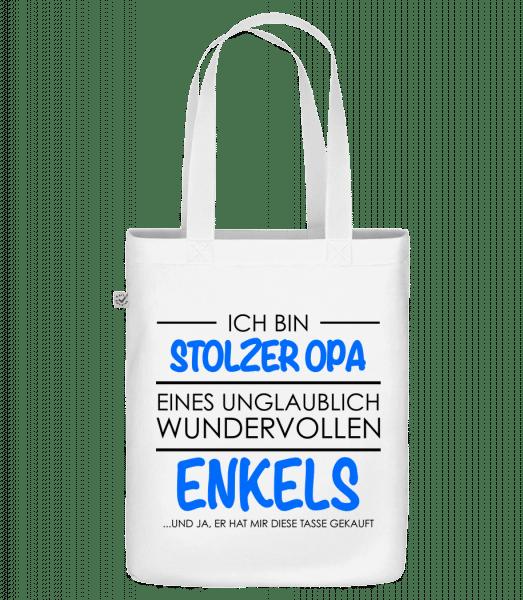 Stolzer Opa Eines Enkels - Bio Tasche - Weiß - Vorn