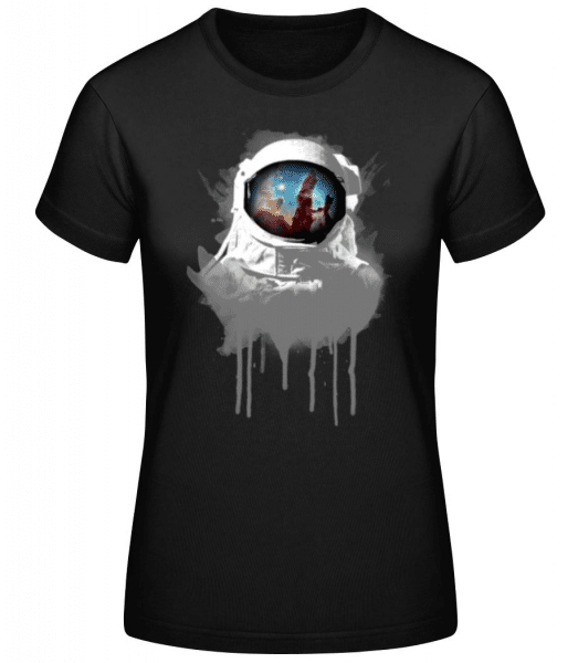 Astronaut - Women's Basic T-Shirt - Black - Front