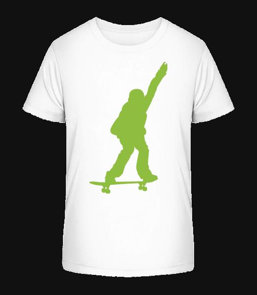 Skateboard Boy - Kid's Premium Bio T-Shirt - White - Vorn