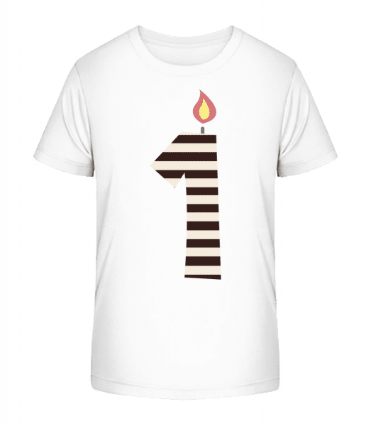 Birthday Candle - Kid's Premium Bio T-Shirt - White - Front