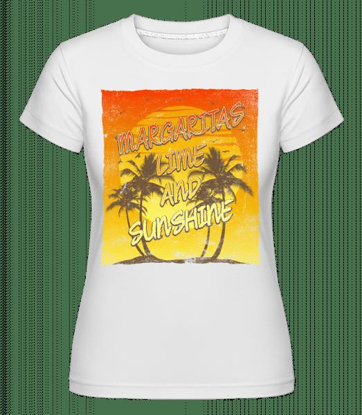 Margaritas And Sunshine -  Shirtinator Women's T-Shirt - White - Vorn