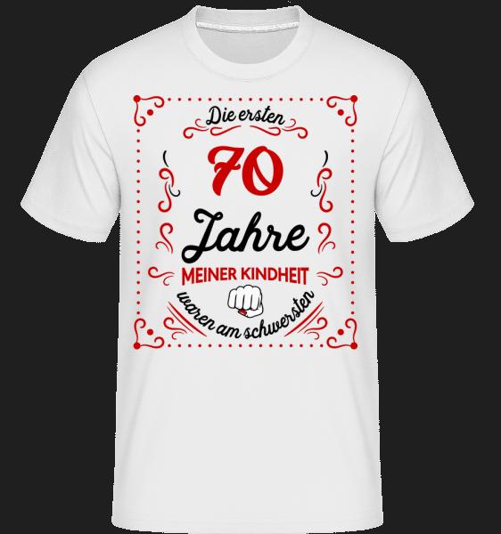 Die Ersten 70 Jahre - Shirtinator Männer T-Shirt - Weiß - Vorn
