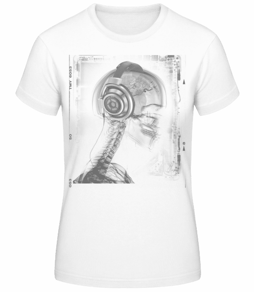 Skeleton Music - Women's Basic T-Shirt - White - Vorn