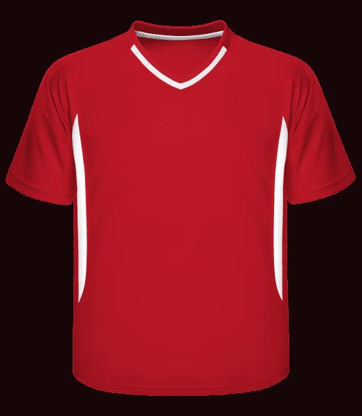 Pánské retro tričko 337 - Červená - Napřed