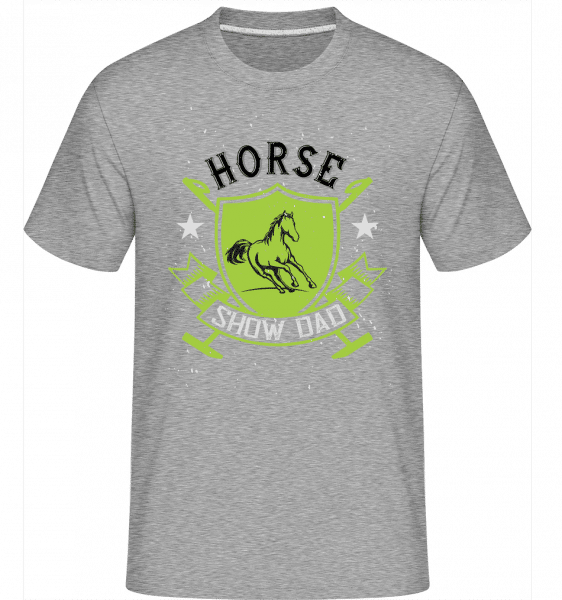 Horse Show Dad -  Shirtinator Men's T-Shirt - Heather grey - Vorn