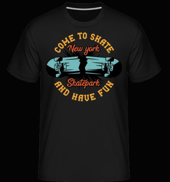 Come To Skate -  Shirtinator tričko pro pány - Černá - Napřed