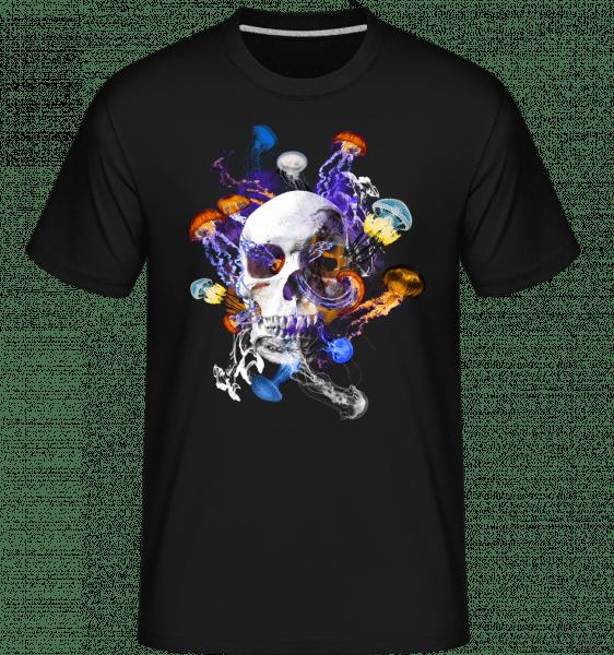Skull Jellyfish -  Shirtinator Men's T-Shirt - Black - Vorn