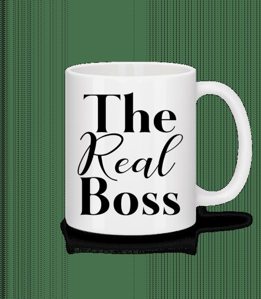 The Real Boss - Mug - White - Vorn