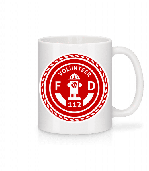 dobrovolník FD - Keramický hrnek - Bílá - Napřed