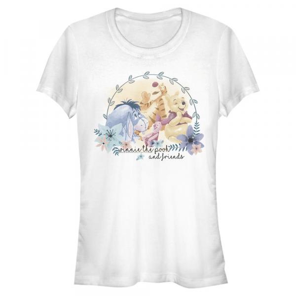 Winnie and Friends Group Shot - Disney Winnie the Pooh - Women's T-Shirt - White - Front