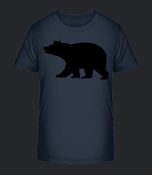 Bear tieň - Detské Premium Bio tričko - Namornícka modrá - Predné