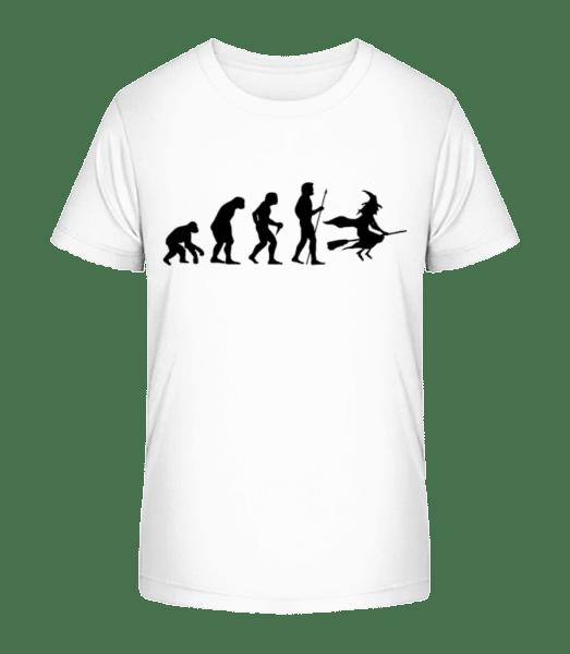 Evolution von Halloween - Kinder Premium Bio T-Shirt - Weiß - Vorn