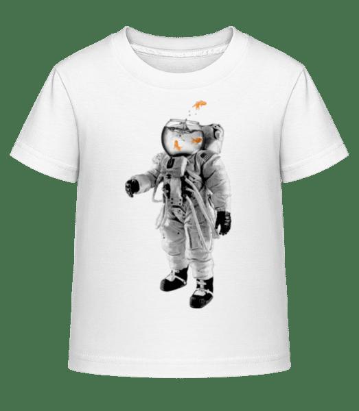 Goldfisch Astronaut - Kinder Shirtinator T-Shirt - Weiß - Vorn
