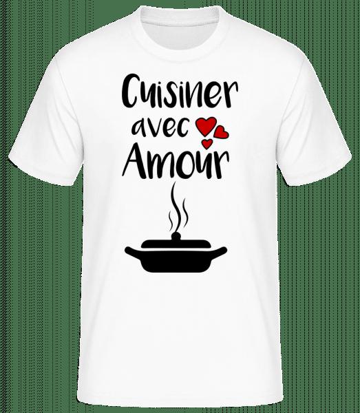 Cuisiner Avec Amour - T-shirt standard Homme - Blanc - Devant