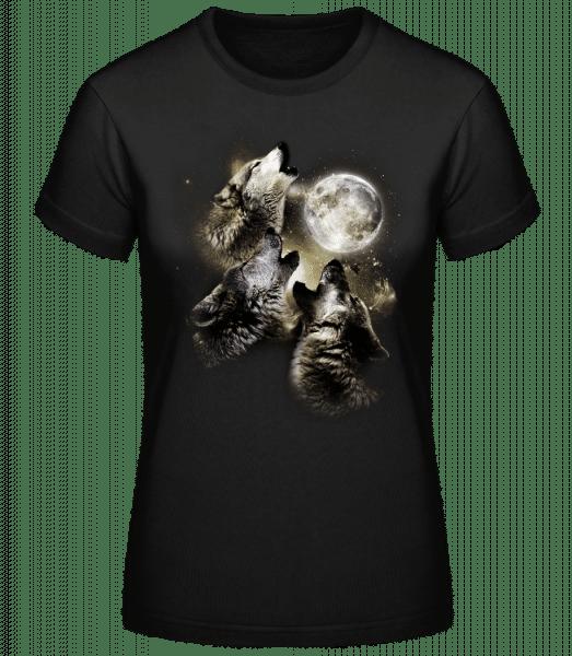 Wolf Moon - Women's Basic T-Shirt - Black - Vorn