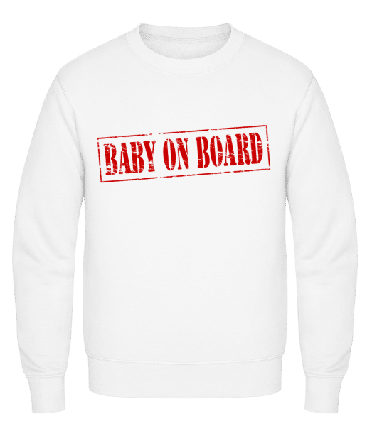 Baby On Board - Classic Set-In Sweatshirt - White - Vorn