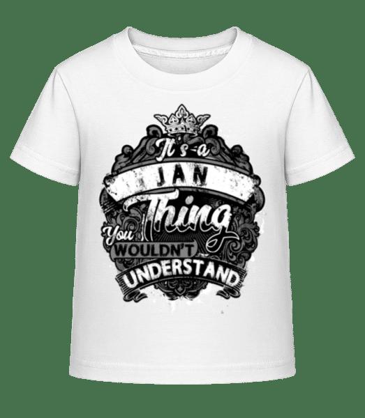 It's A Jan Thing - Kinder Shirtinator T-Shirt - Weiß - Vorn