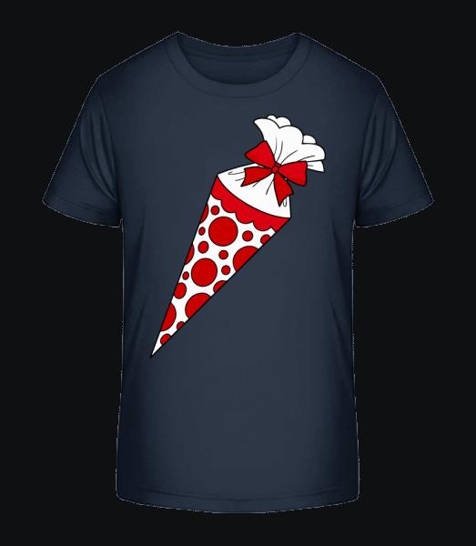 School Cone - Kid's Premium Bio T-Shirt - Navy - Vorn