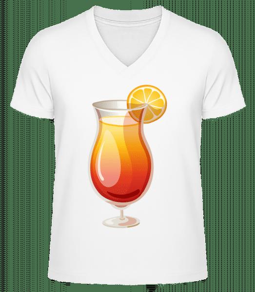 Cocktail Sex On The Beach - Men's V-Neck Organic T-Shirt - White - Vorn