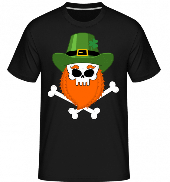 Irish Skull - Shirtinator Männer T-Shirt - Schwarz - Vorn