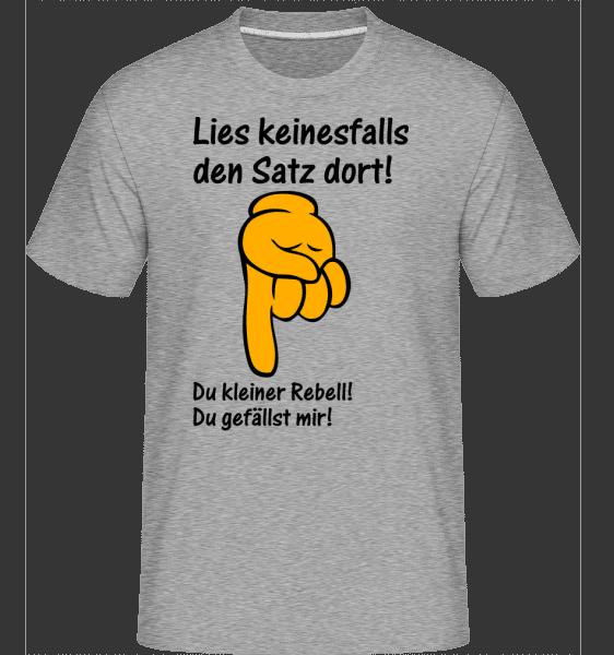 Du Kleiner Rebell - Shirtinator Männer T-Shirt - Grau meliert - Vorn
