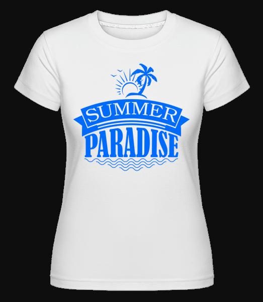 Summer Paradise Blue -  Shirtinator Women's T-Shirt - White - Vorn