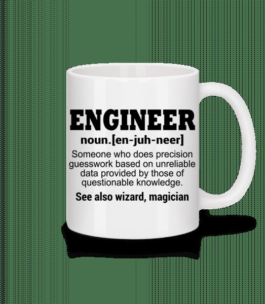 inženýr Defenition - Keramický hrnek - Bílá - Napřed